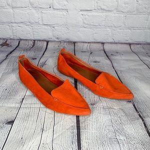 Jeffrey Campbell Vionnet loafer flats orange sz 10